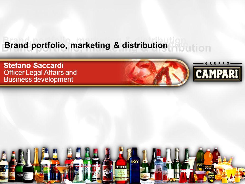 Roadshow12 Brand portfolio, marketing & distribution Stefano Saccardi Brand portfolio, marketing & distribution Officer Legal Affairs and Business dev