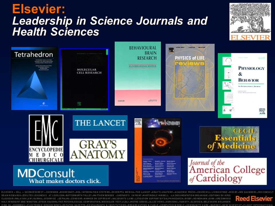 Elsevier: Leadership in Science Journals and Health Sciences
