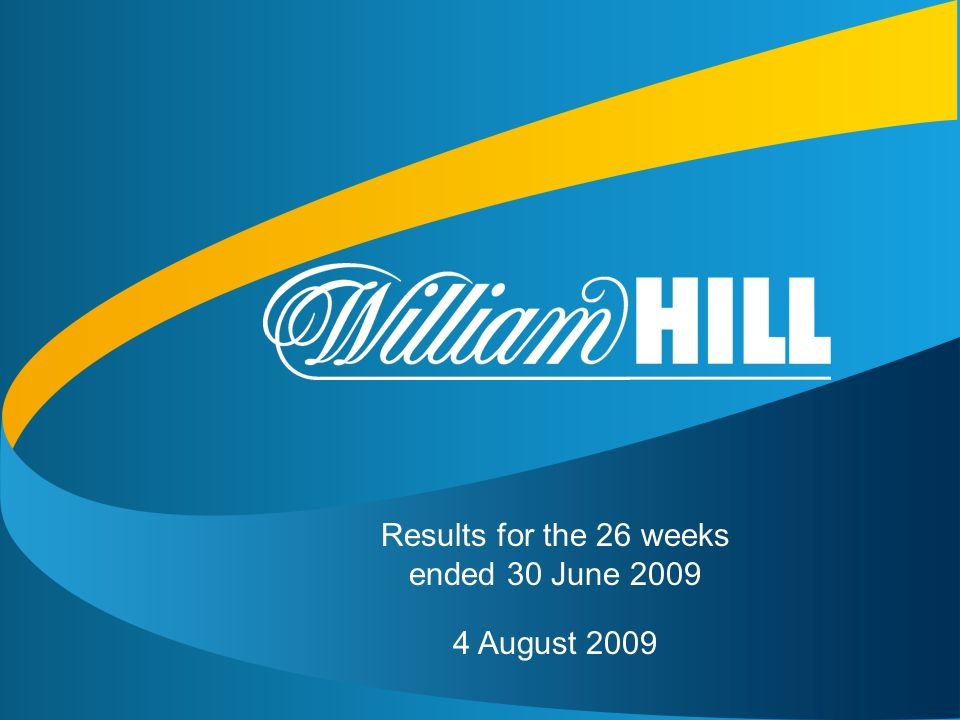 1 Results for the 26 weeks ended 30 June 2009 4 August 2009