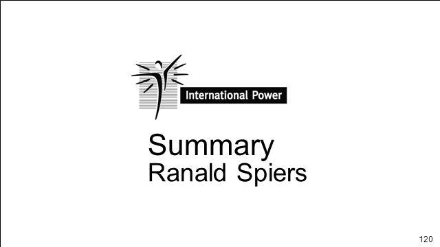 120 Summary Ranald Spiers