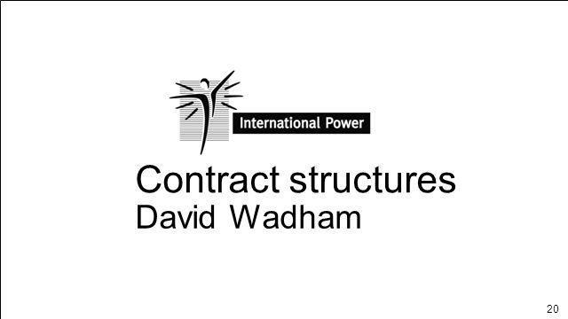 20 Contract structures David Wadham