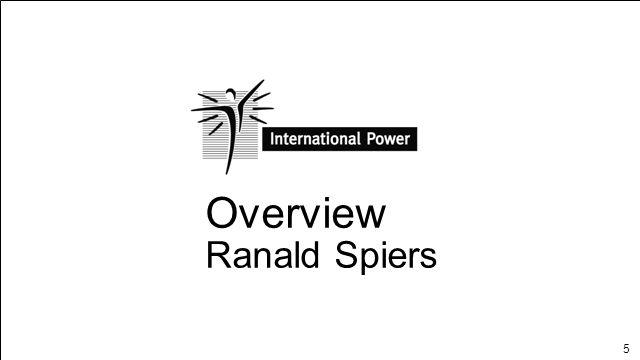 5 Overview Ranald Spiers