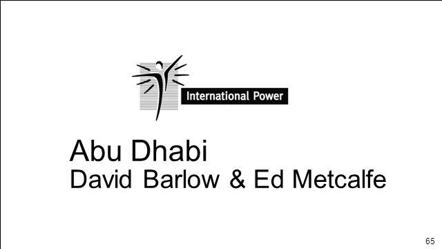 65 Abu Dhabi David Barlow & Ed Metcalfe