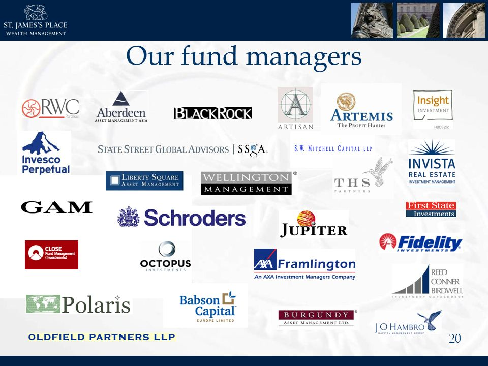 20 Our fund managers
