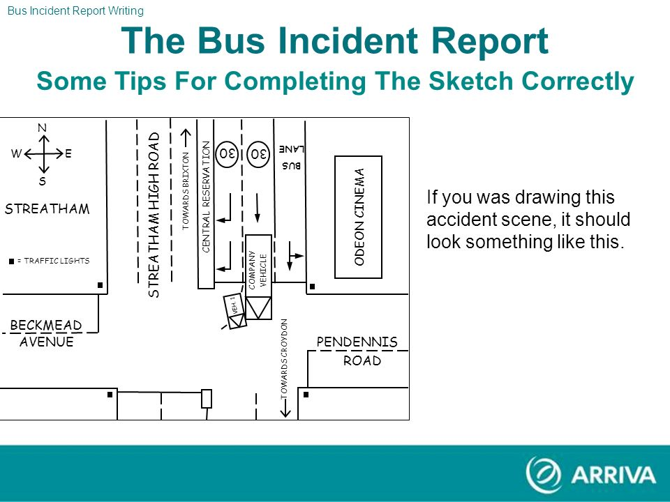 Bus Incident Report Writing The Report The Bus Incident Report Some Tips For Completing The Sketch Correctly We dont expect you to draw anything this