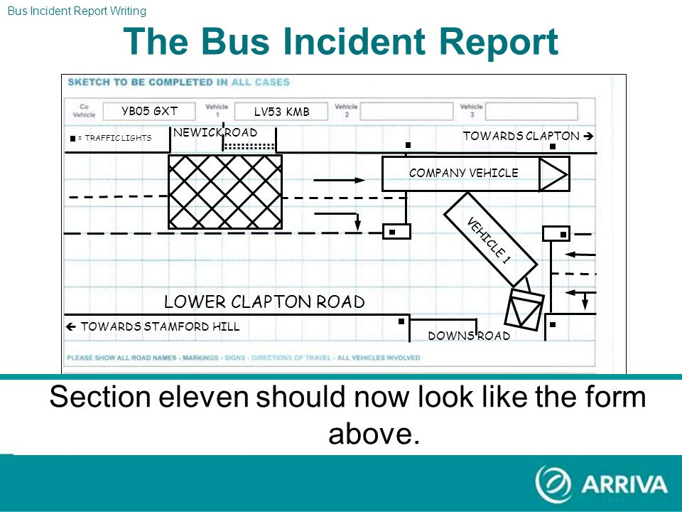 Hackney, London E5 Clapton Stamford Hill Bus Incident Report Writing The Bus Incident Report Lower Clapton Road Newick Road Downs Road YB05 GXT LV53 K