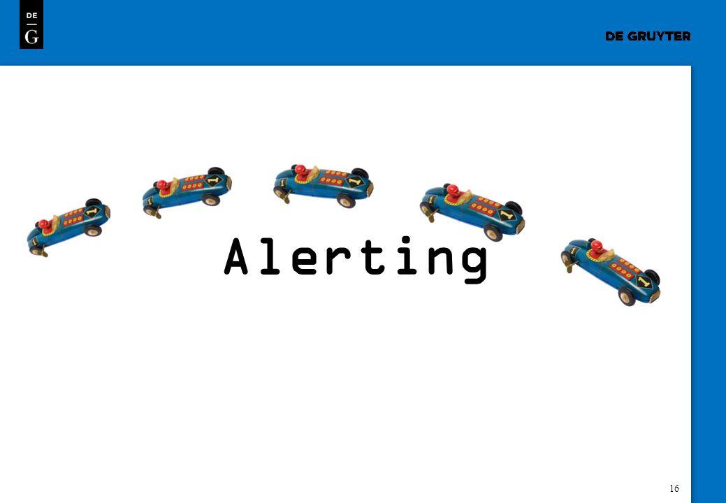 16 Alerting