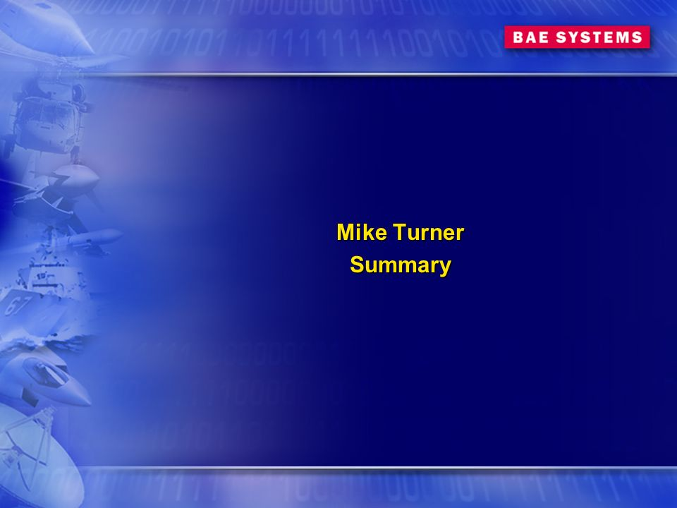 Mike Turner Summary Summary