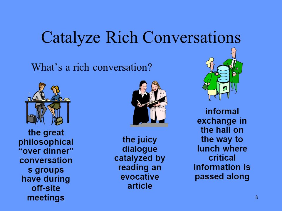 8 Catalyze Rich Conversations Whats a rich conversation.