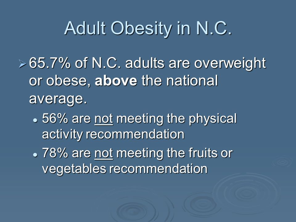 The Burden of Obesity in North Carolina Special Populations & Obesity