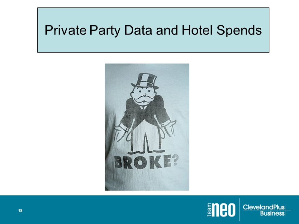 18 Private Party Data and Hotel Spends
