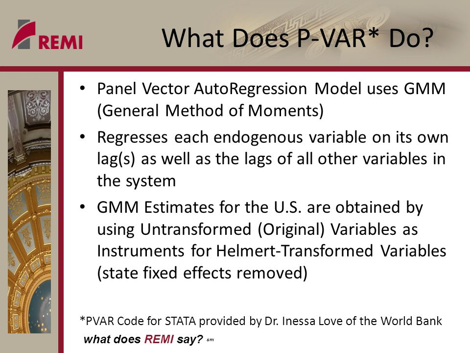 what does REMI say. sm What Does P-VAR* Do.