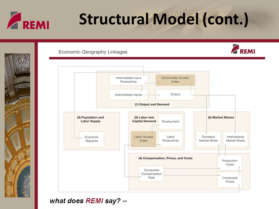 what does REMI say sm Structural Model (cont.)