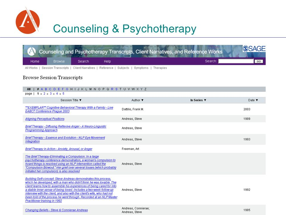 Counseling & Psychotherapy