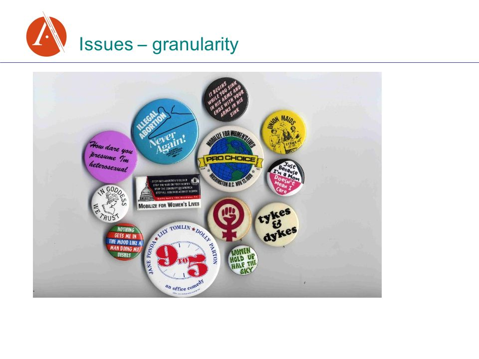 Issues – granularity