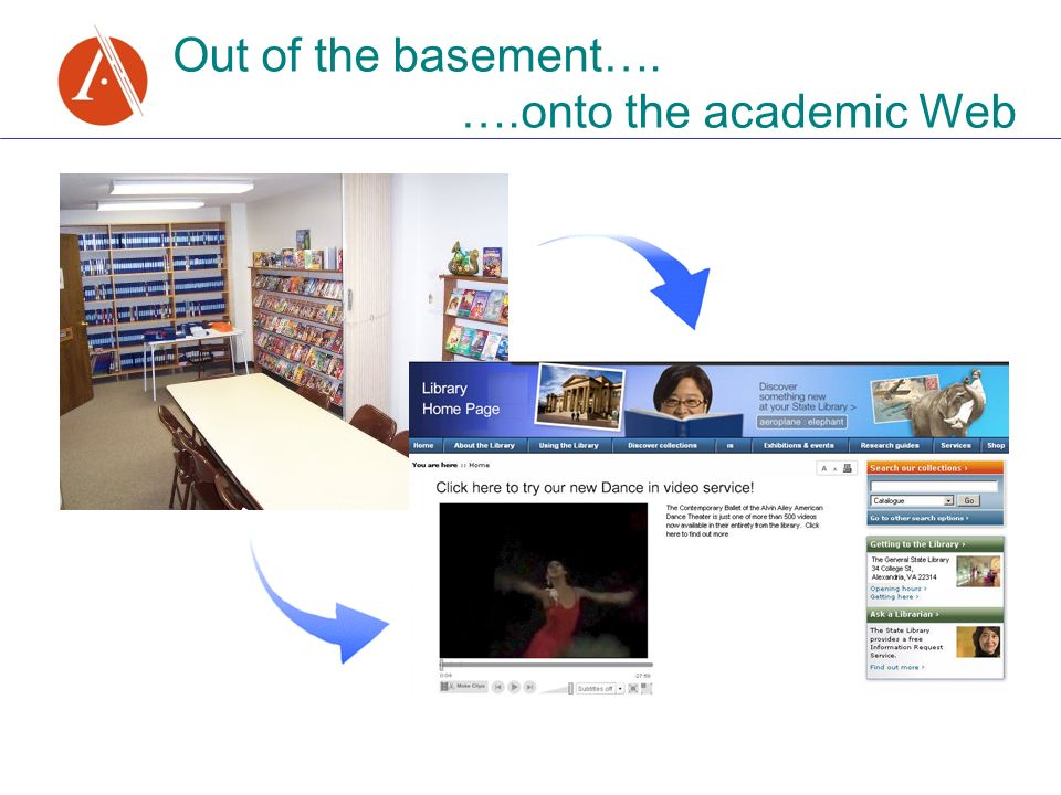 Out of the basement…. ….onto the academic Web