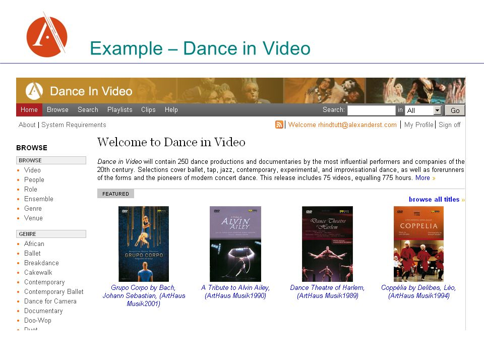 Example – Dance in Video