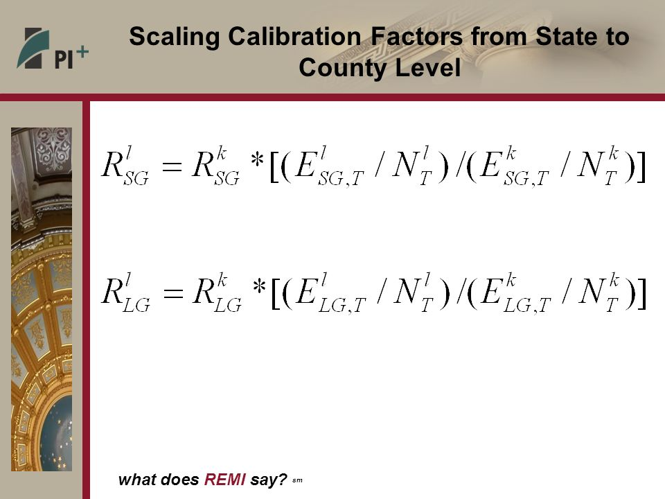 Scaling Calibration Factors from State to County Level