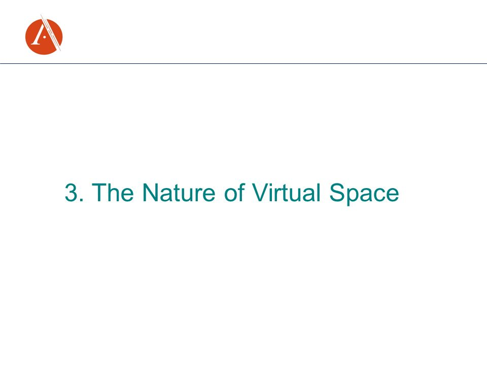 3. The Nature of Virtual Space