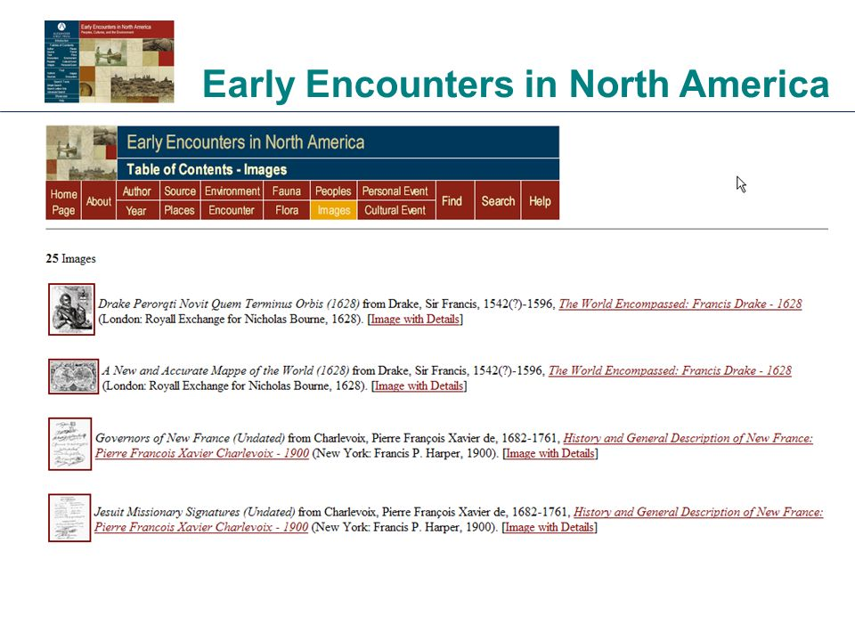 Early Encounters in North America