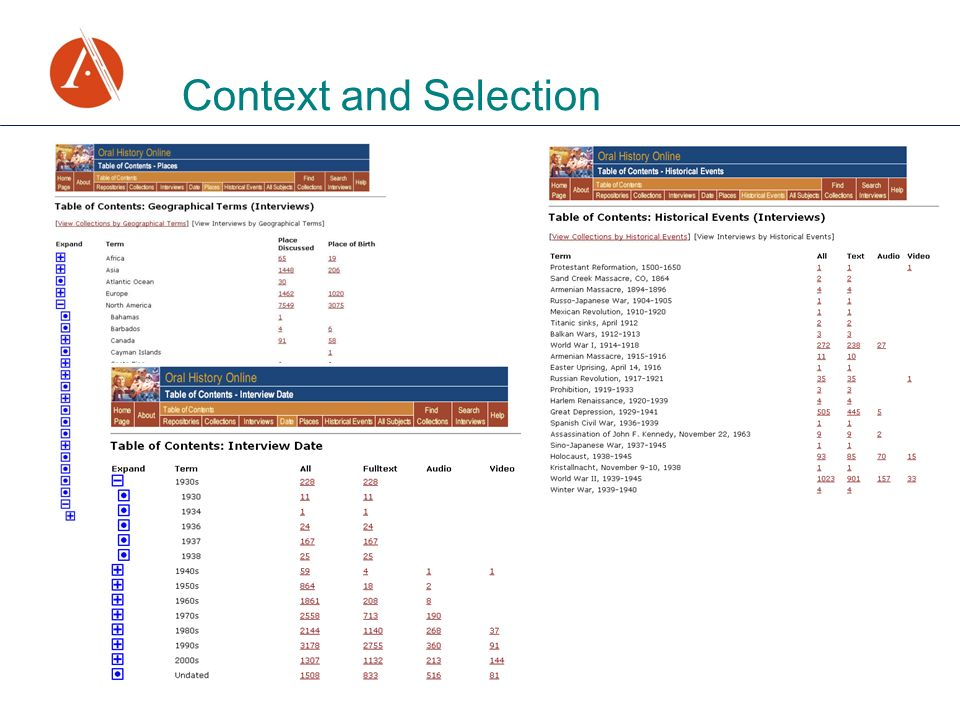 Context and Selection