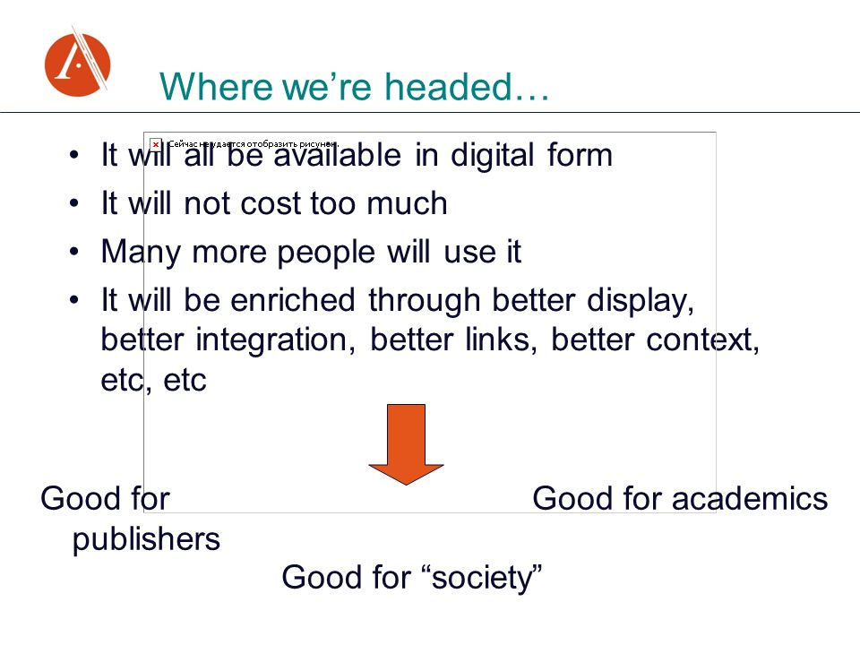 It will all be available in digital form It will not cost too much Many more people will use it It will be enriched through better display, better int
