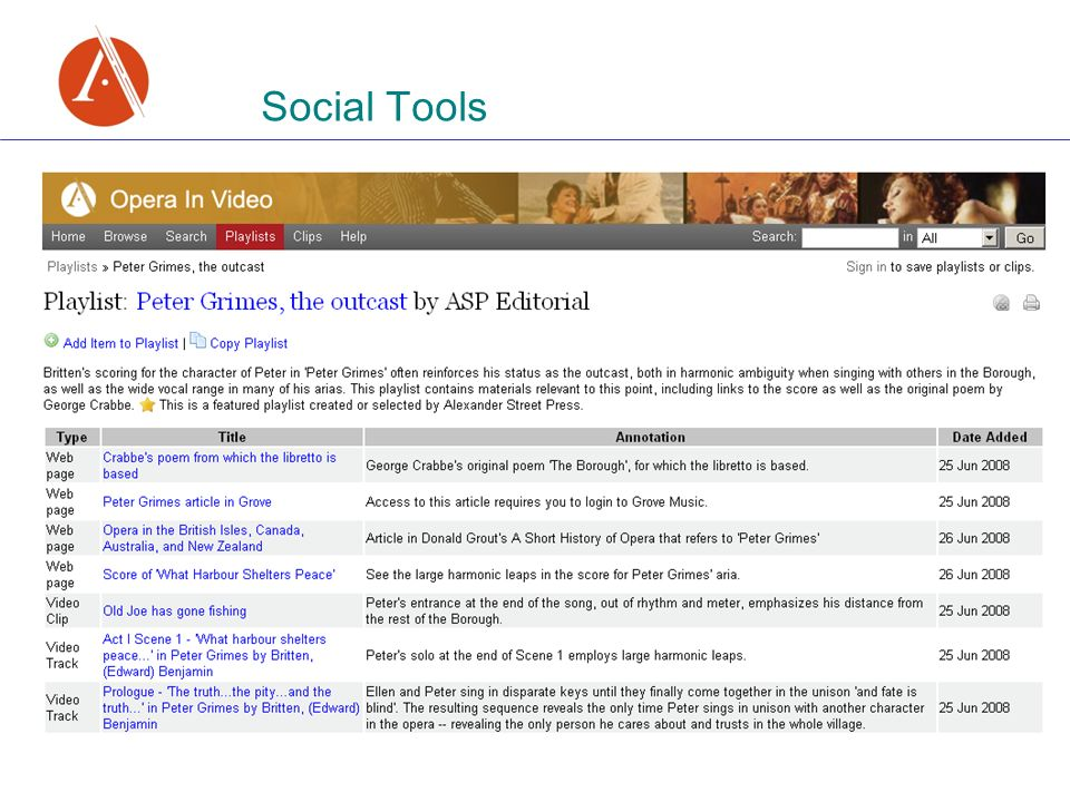 Social Tools
