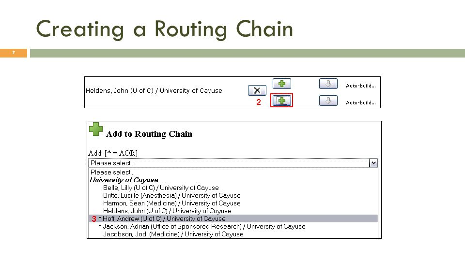 Creating a Routing Chain 7