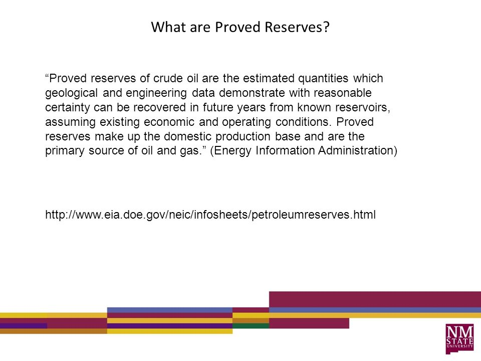 What are Proved Reserves.
