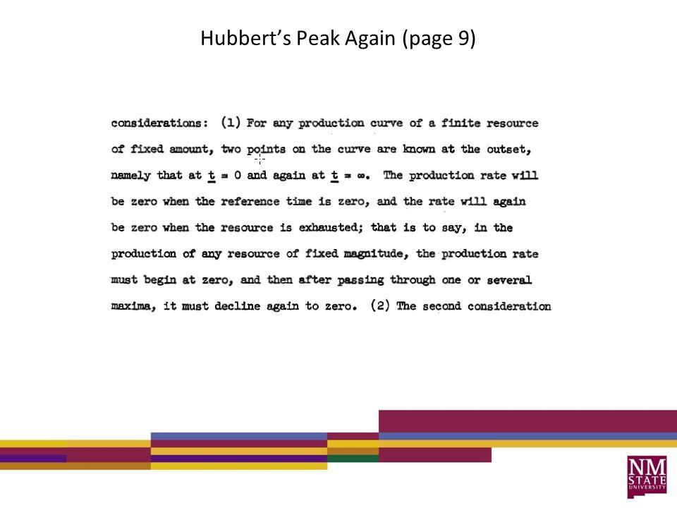 Hubberts Peak Again (page 9)