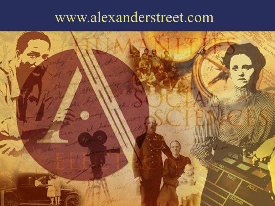 www.alexanderstreet.com