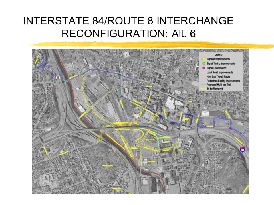 INTERSTATE 84/ROUTE 8 INTERCHANGE RECONFIGURATION: Alt. 6