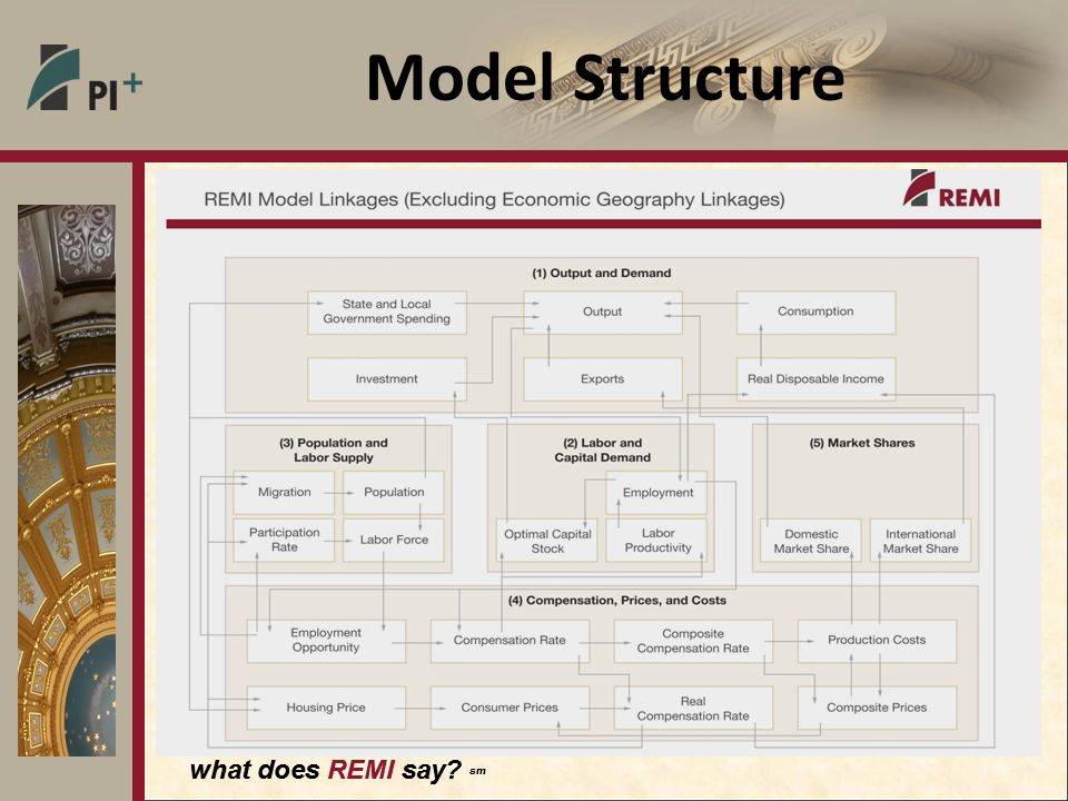 what does REMI say sm Model Structure