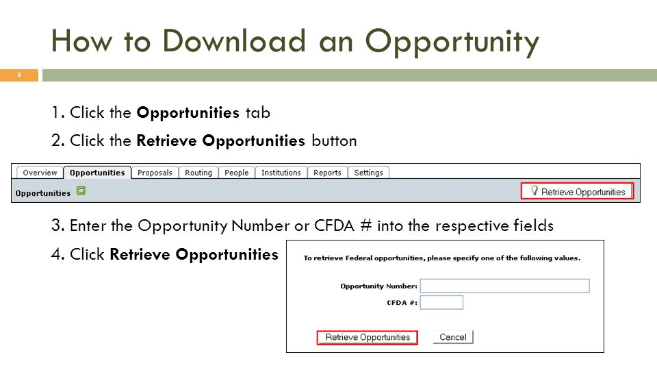 Using Opportunities Simply select the opportunity using the green plus symbol.