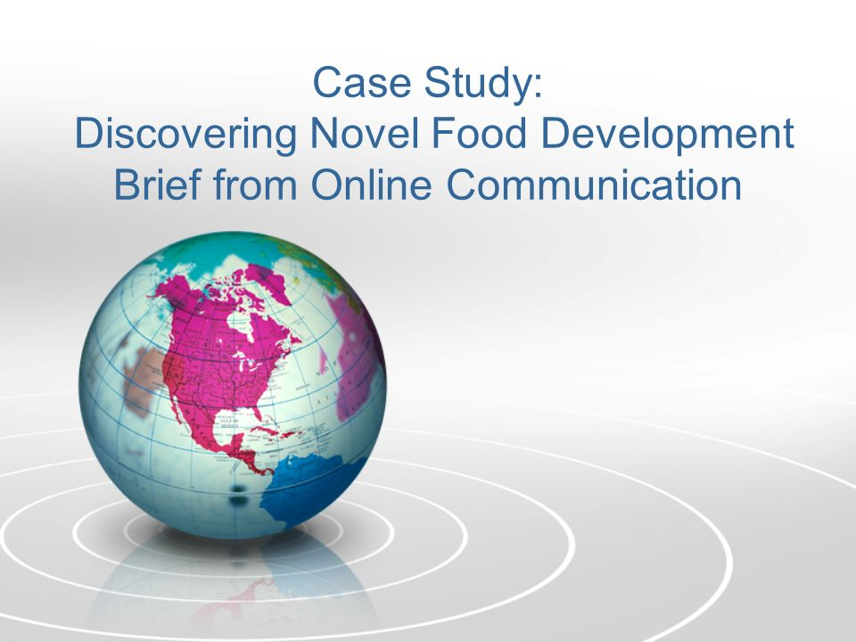 Case Study: Discovering Novel Food Development Brief from Online Communication