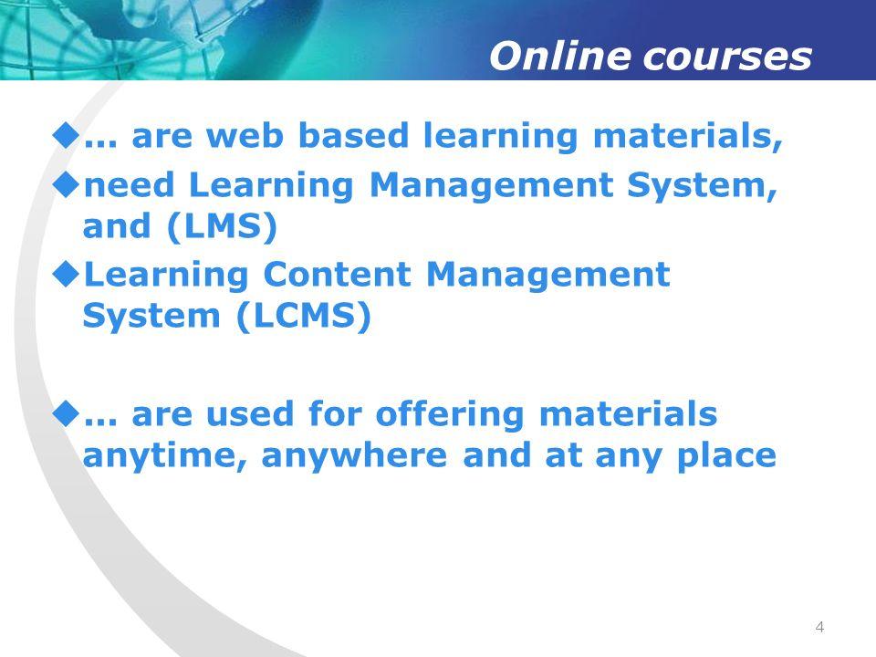 Online courses...