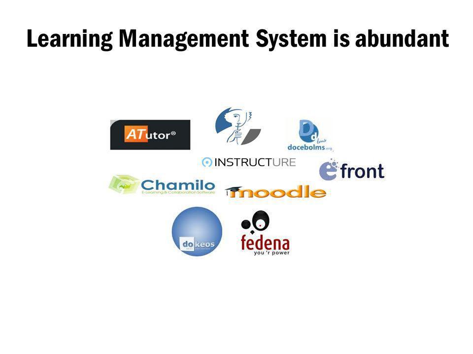 Learning Management System is abundant