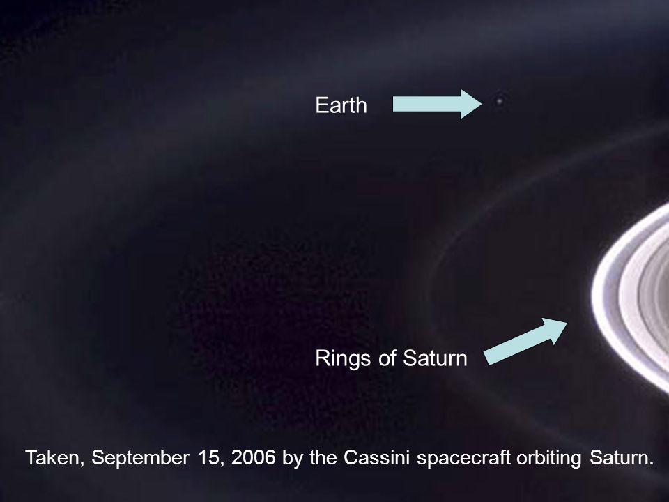 Earth Rings of Saturn Taken, September 15, 2006 by the Cassini spacecraft orbiting Saturn.