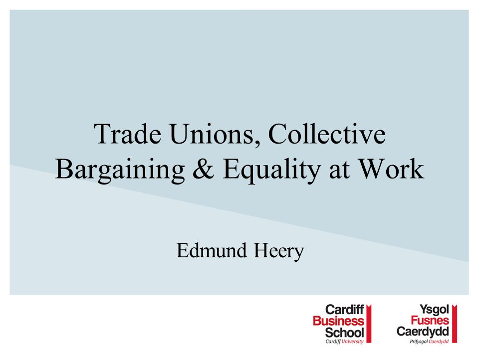 Objectives Employment law Employer action Civil regulation Collective bargaining –Evidence of equality bargaining –Conditions for equality bargaining –Relationship of bargaining to law