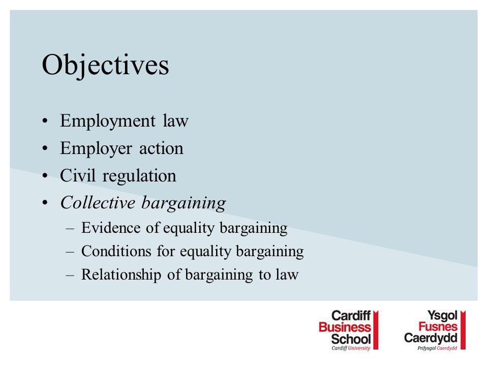 Evidence for equality bargaining Trevor Colling & Linda Dickens: Equality Bargaining – Why Not.