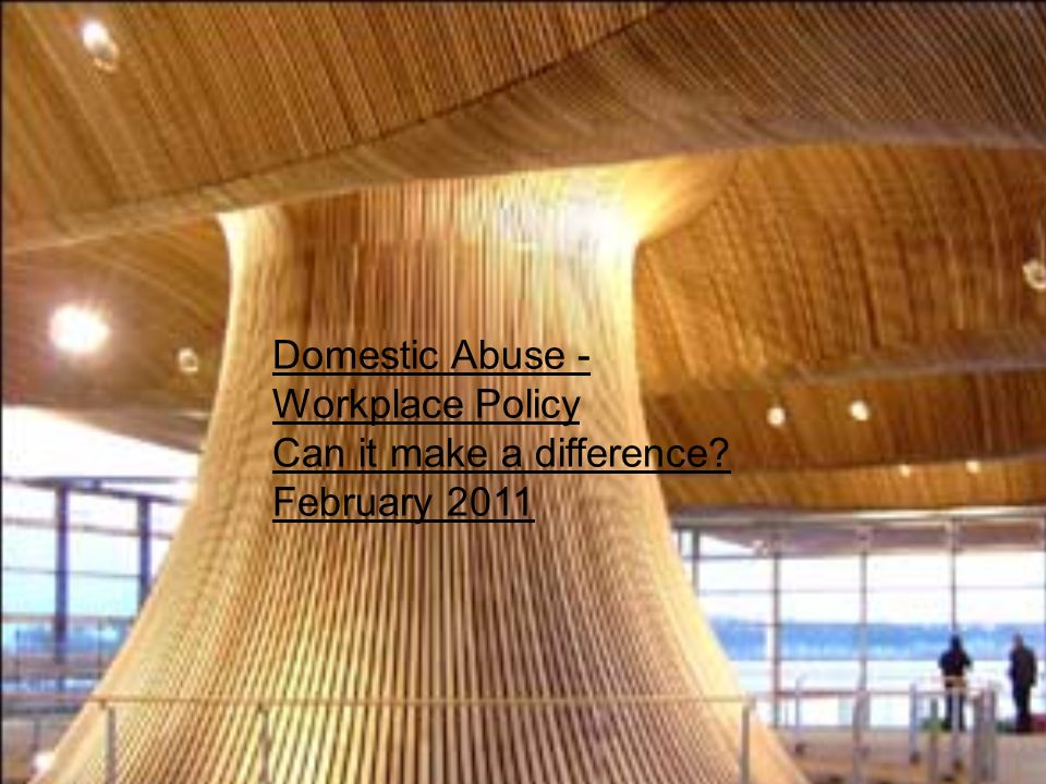 Domestic Abuse - Workplace Policy Can it make a difference February 2011