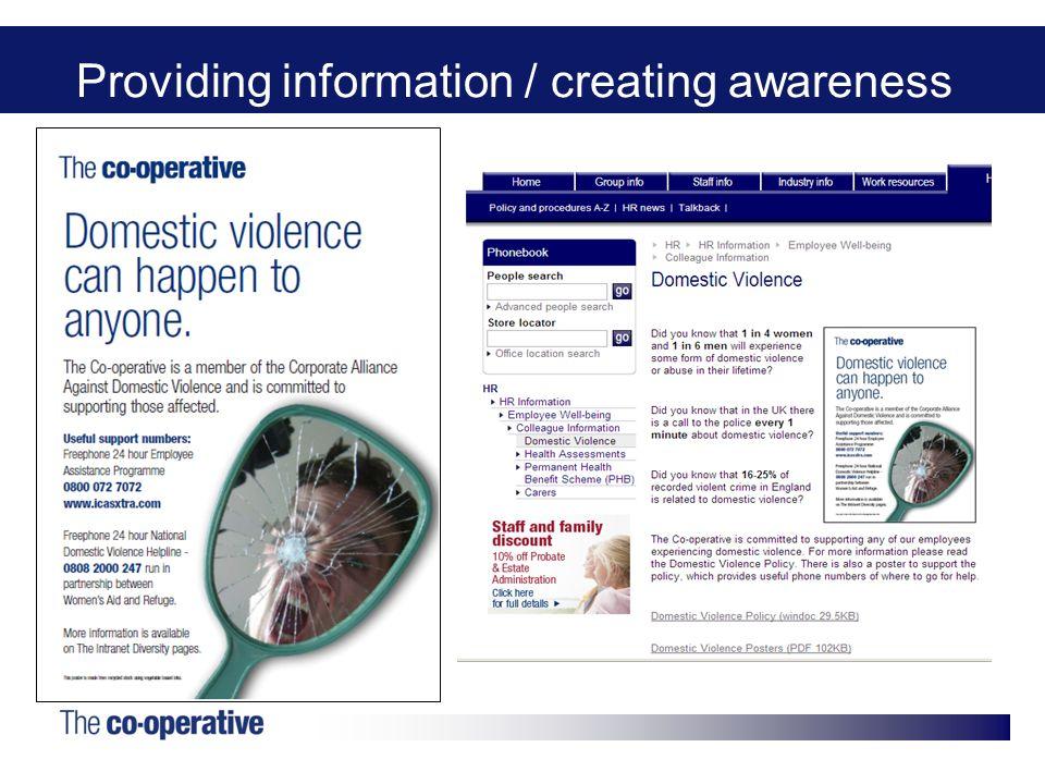 Providing information / creating awareness