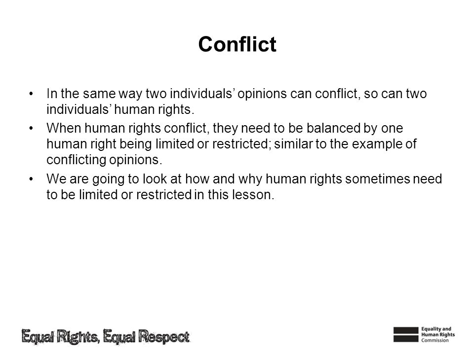 Balancing human rights Todays learning objectives: –Understand that some human rights can be limited.