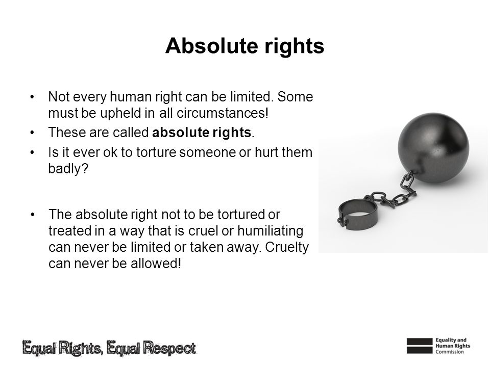 What have we learnt.That some human rights can be limited.