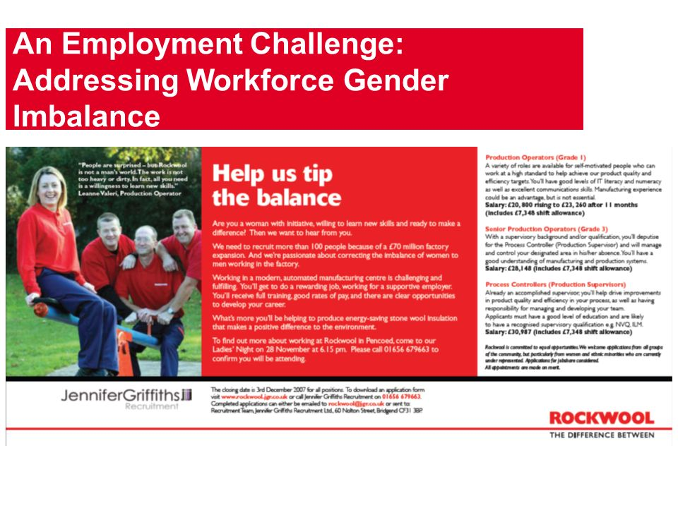 An Employment Challenge: Addressing Workforce Gender Imbalance