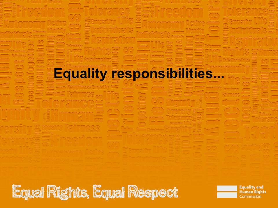 Equality responsibilities...