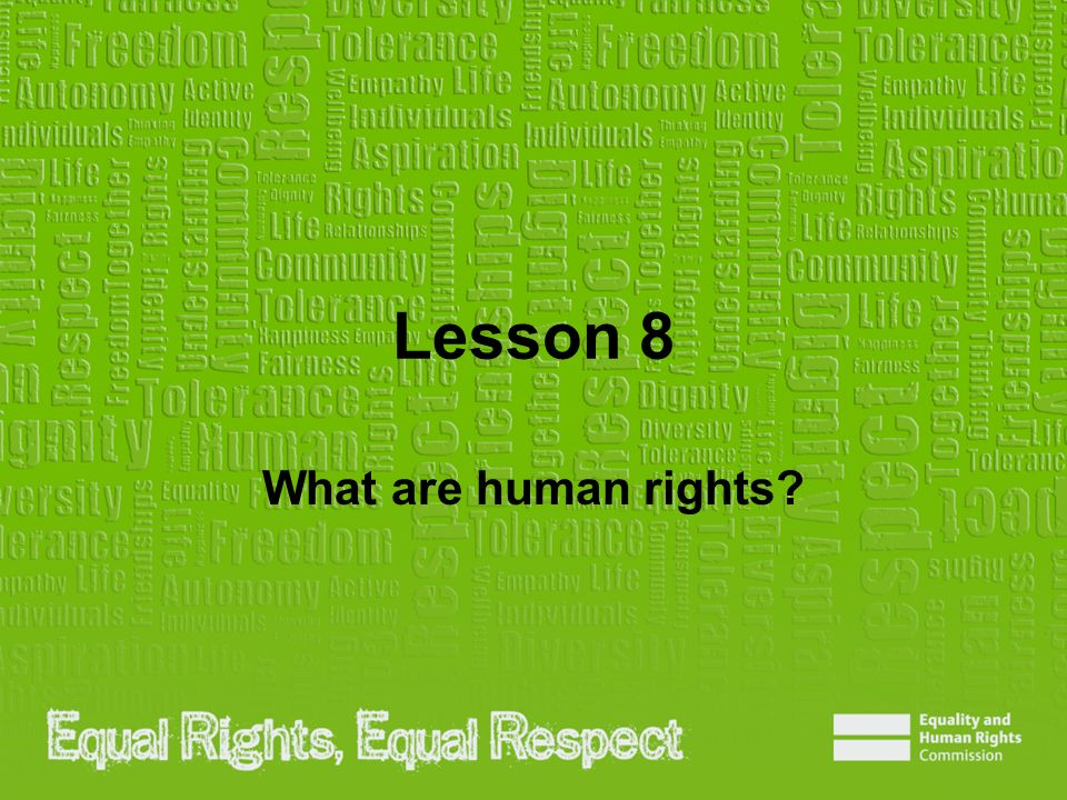 Lesson 8 What are human rights?