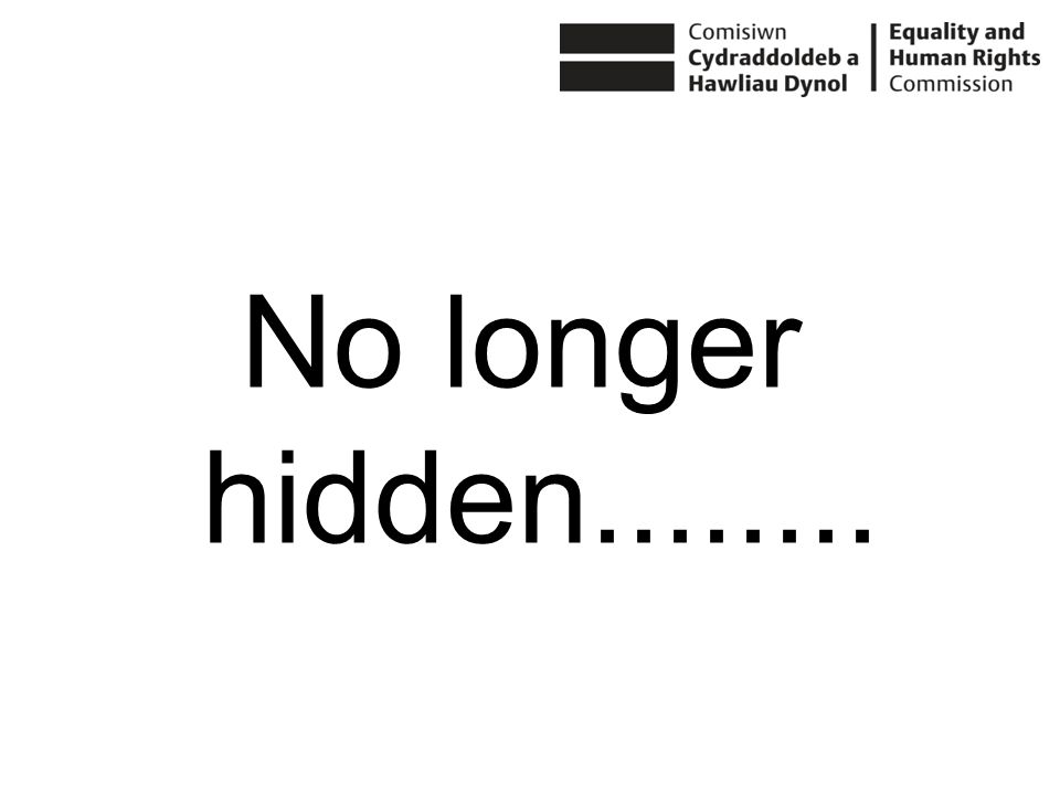 No longer hidden........