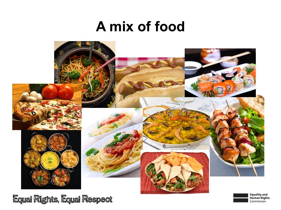 A mix of food