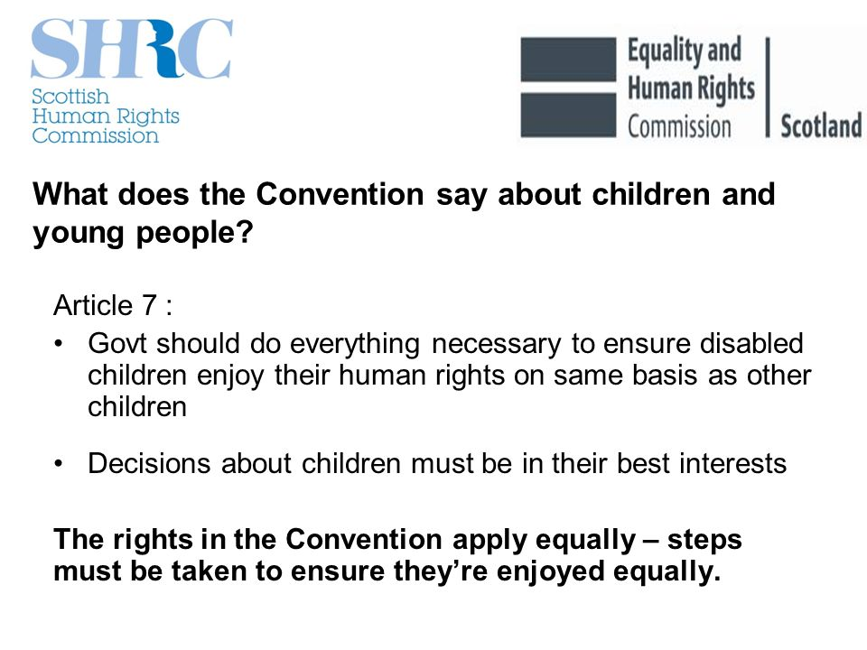 What does the Convention say about children and young people.